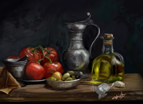 Digital Still Life Painting