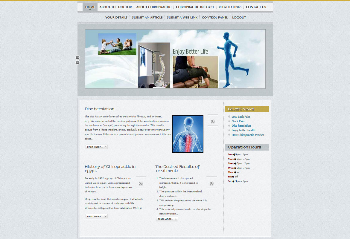 Dr. Omar Elsangak Website Design